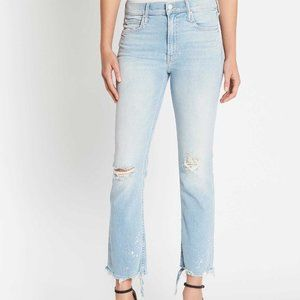 MOTHER THE DUTCHIE ANKLE LIGHT WASH JEANS